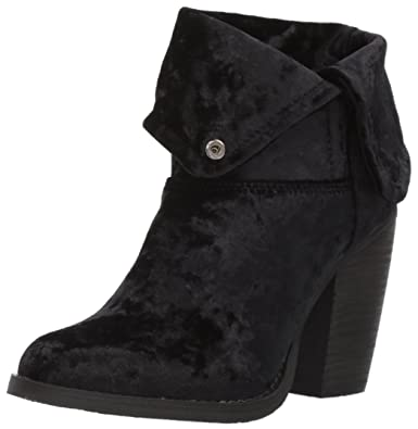 Sbicca Womens Velveteen Ankle Bootie Black Size 100