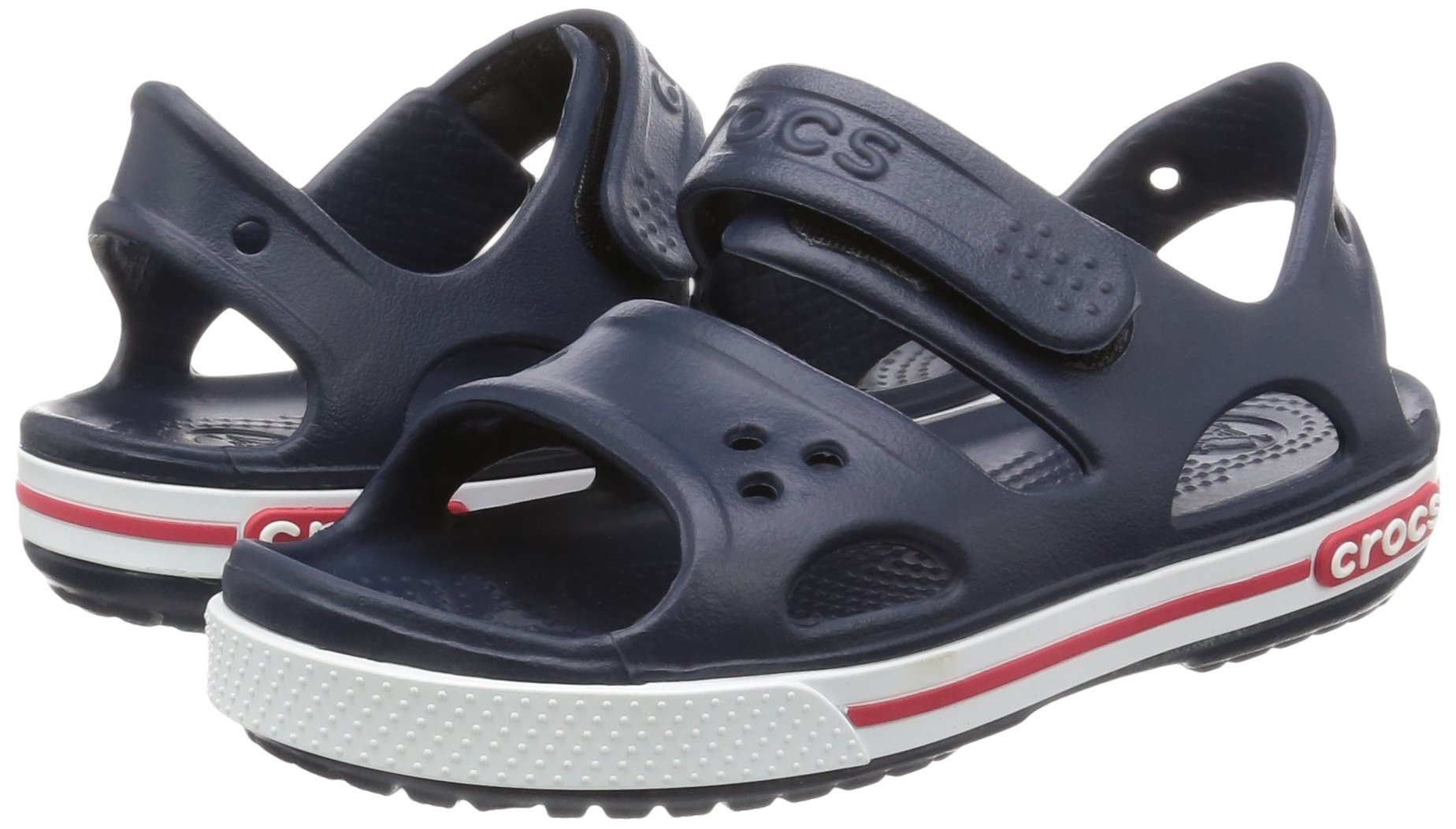 Crocs Kid's Boys and Girls Crocband II Sandal | Pre School, Navy/White, 5 M US Toddler by Crocs (Image #6)