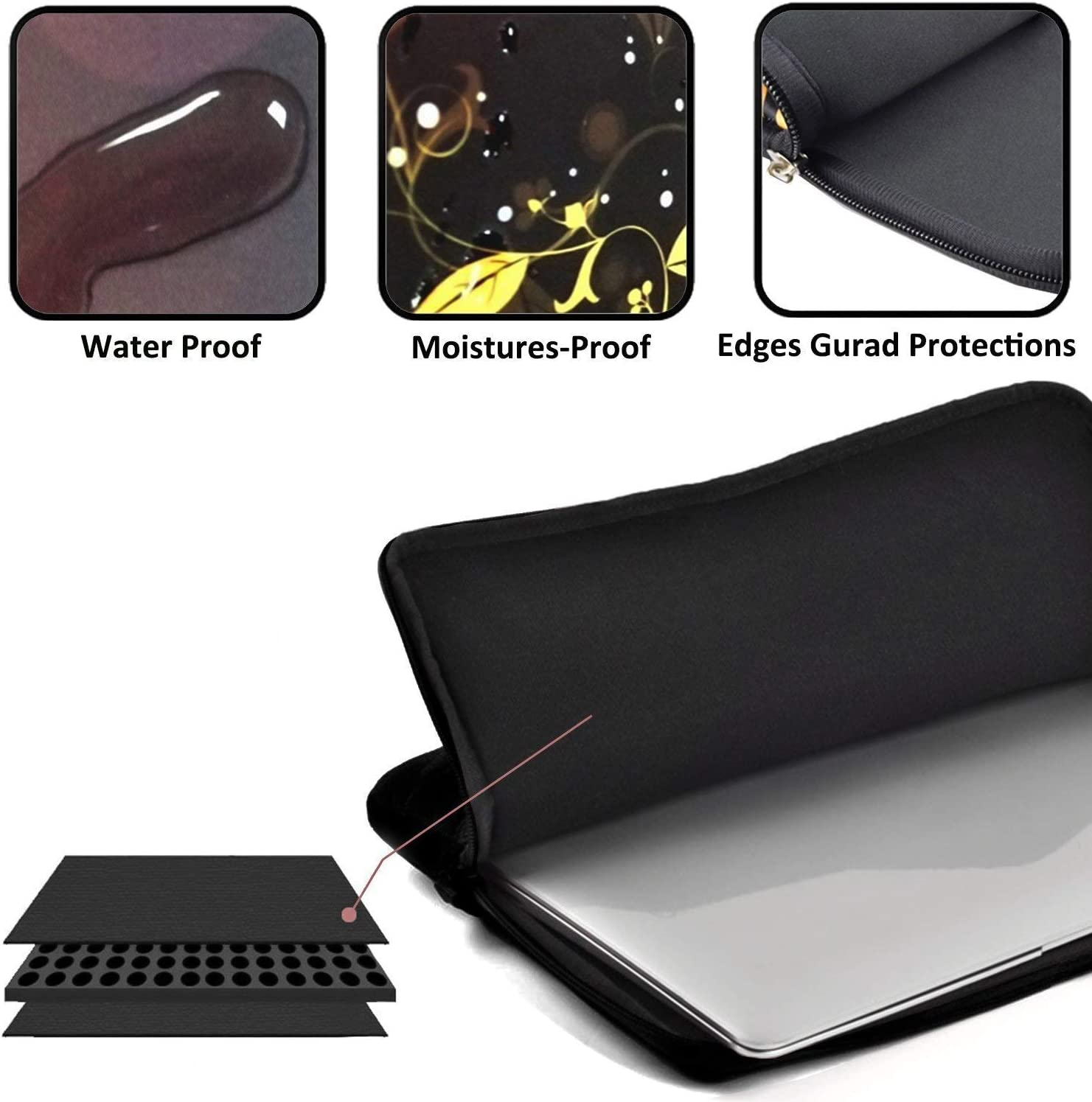 Amazing Sunflower Sunset 13-15 Inch Laptop Sleeve Case Protective Bag Water Repellent Gaming Computer Bag Tablet Ultrabook Carrying Cover for Boys /& Girls