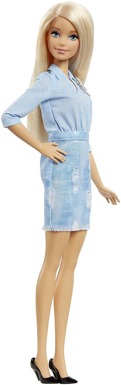 Barbie Fashionistas 49 Double Denim Look Doll Mattel DVX71