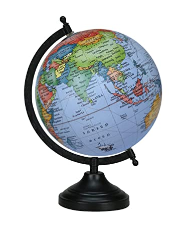 Globe World Map Antique Globe Beautiful Table Decor Home Office Black 13 Inches
