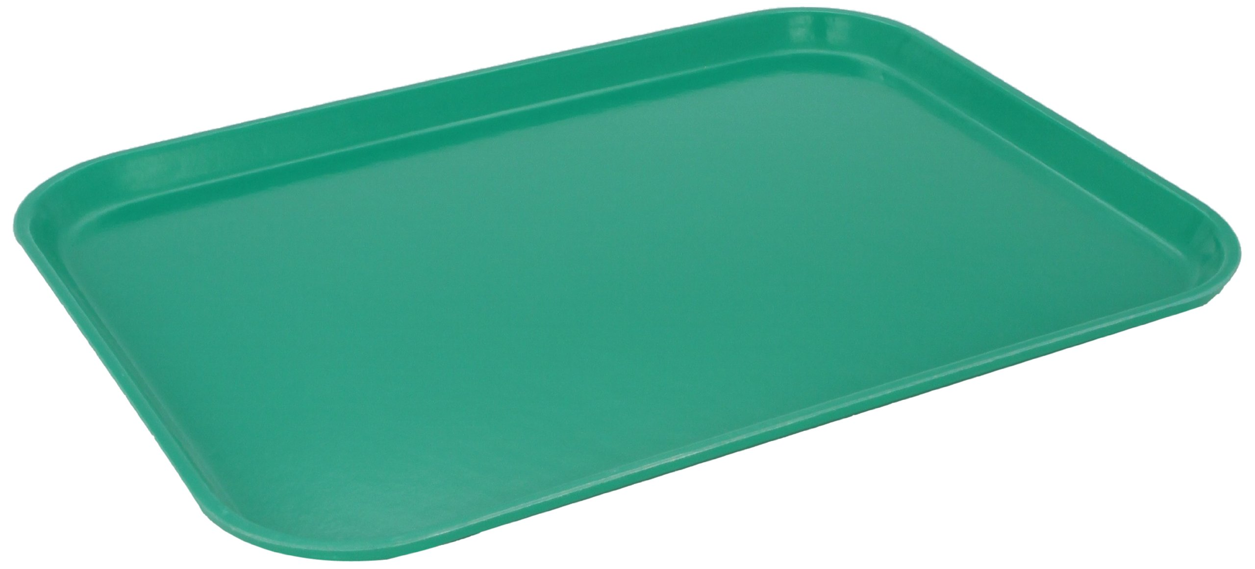 Carlisle 1612FG017 Fiberglass Glasteel Solid Rectangular Tray, 16.37'' x 12.00'', Red (Case of 12)