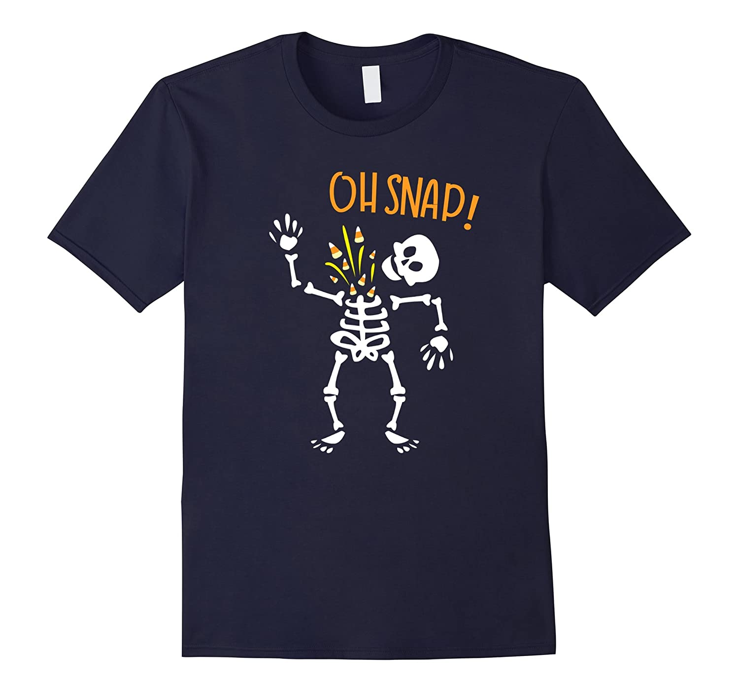 Halloween Kids Funny Skeleton Oh-Snap Costume T-shirt-T-Shirt