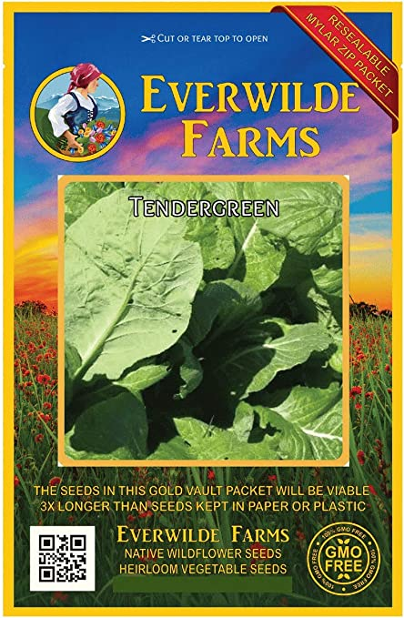 500 Seven Top Turnip Seeds Everwilde Farms Mylar Seed Packet