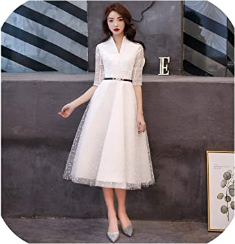 White Evening Dresses Lace Evening Gowns Formal Evening Dress Styles Women  Prom Party Dresses, White, 8 at Amazon Women's Clothing store