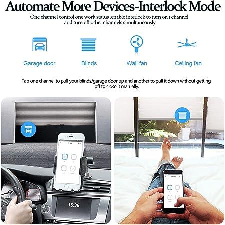 Smart Plug Inal/ámbrica con Temporizador Compatible con Alexa Echo Se Necesita 2.4GHz Wifi Enchufe Wifi Google Home Etersky Enchufe Inteligente Control Remoto por Voz//Smart Life IFTTT
