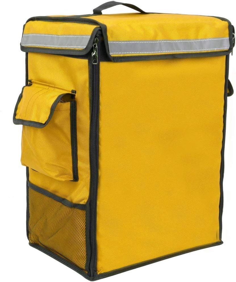 CityBAG Thermischer Rucksack f/ür wegbringen Essen Bestellungen per Fahrrad und Motorrad Lieferung gelb 35 x 25 x 49 cm.
