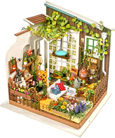 Casa de muñecas Set de Bricolaje Bolsa de Herramientas de Madera Jardín de casa de muñecas