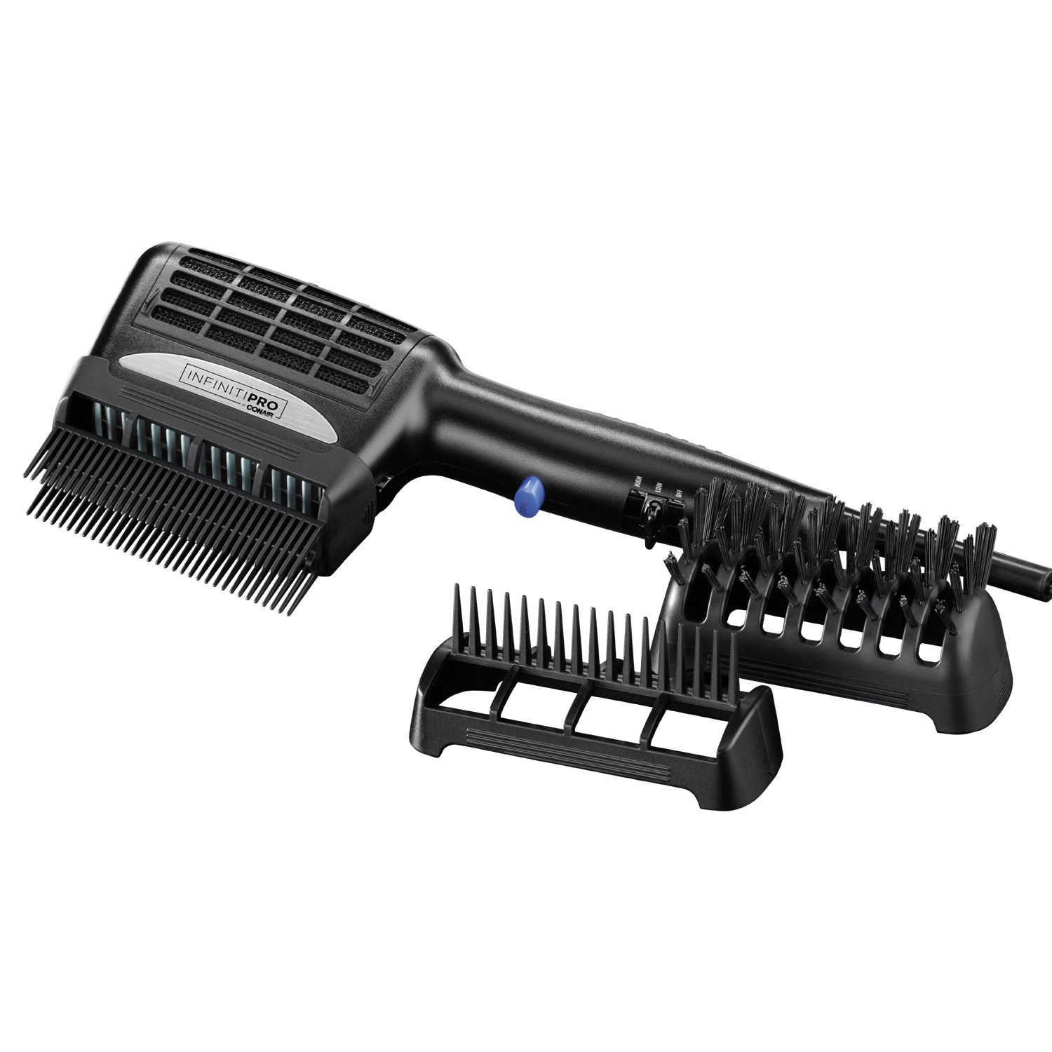 INFINITIPRO BY CONAIR 1875 Watt 3-in-1 Ceramic Styler; 3 Attachments to Detangle/Straighten/Volumize