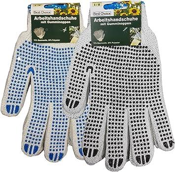 CMG z328 2 pares Guantes de trabajo de algodón con botones de goma ...