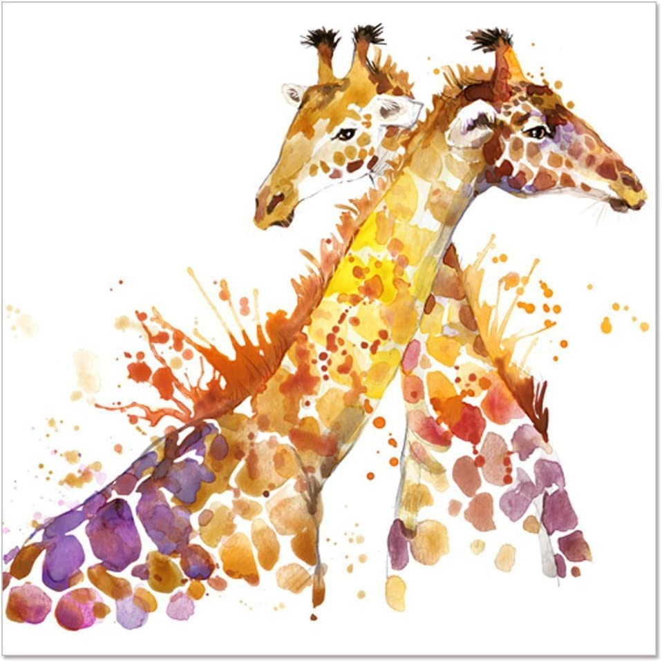 YISUMEI 60x80 Blanket Comfort Warmth Soft Plush Throw for Couch Animal Abstract Giraffe Watercolor