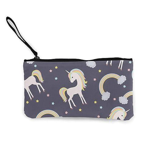 Amazon.com: Monedero con diseño de estrellas arcoíris para ...