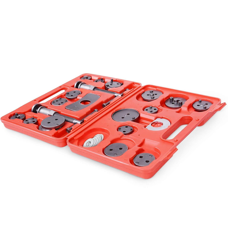 Adaptateurs inclus M/âchoire ou Plaquettes de Frein Jago Coffret Set Repousse Piston d/Étrier de Frein Remplacement de Disque Kit dOutils 22 Pi/èces
