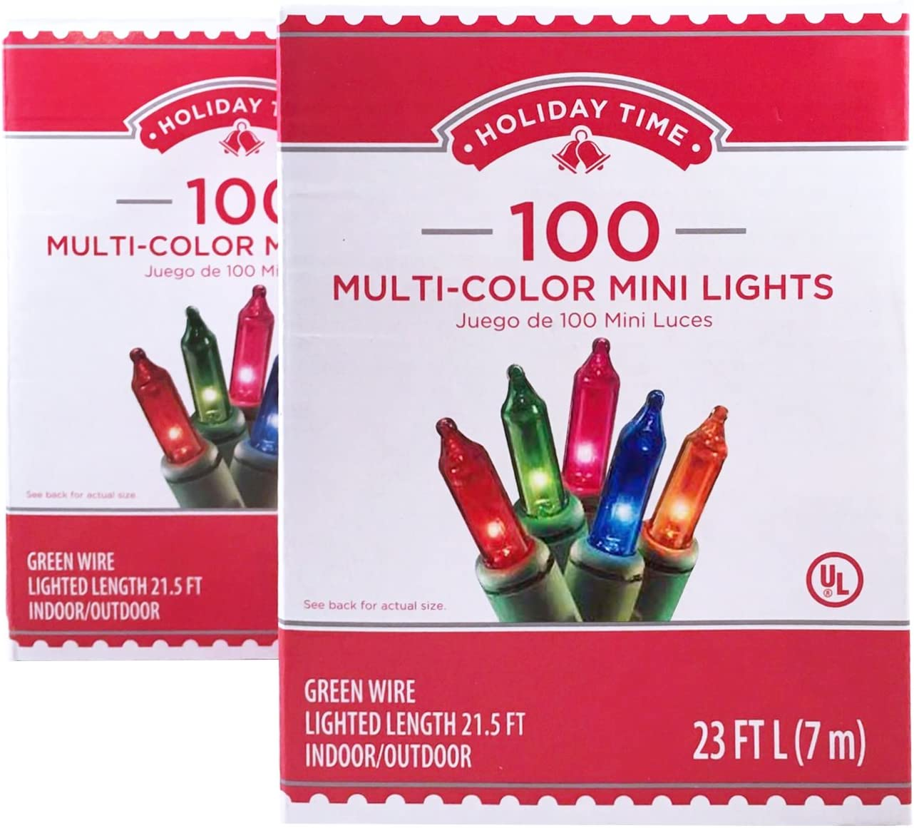 New Lot Of 5 Boxes 100 Count Multi-Color Mini Christmas Lights Green Wire Tree