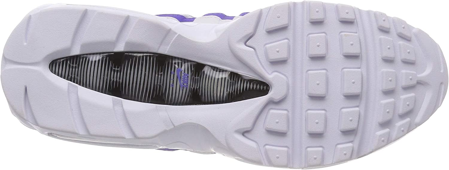 Nike Air Max 95 Essential, Chaussures de Gymnastique Homme Multicolore White Persian Violet Cool Grey Wolf Grey 001