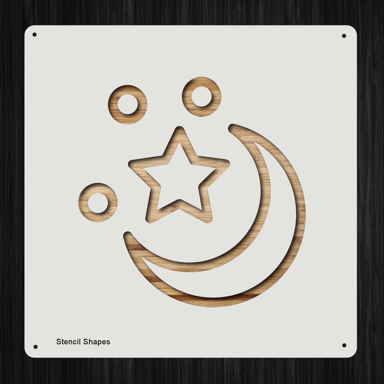 Moon Crescent スカイナイト プラスチック マイラー ステンシル 塗装 壁 工芸用 アイテム 361927   B07DMS1DXQ