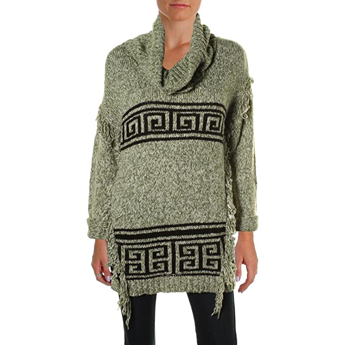 9b5c914bc23 Image Unavailable. Image not available for. Color  Kensie Womens Fringe  Funnel Neck Pullover ...