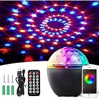 BACKTURE Luces Discoteca, Iluminación de Escenarios Bluetooth con Control de Sonido Rotating, 16 Colores Focos para…