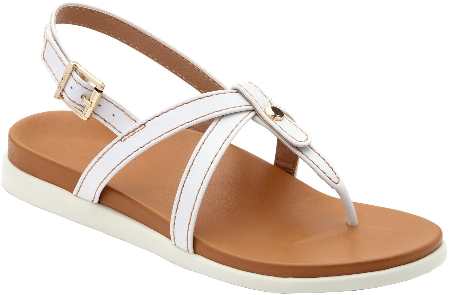 Vionic Palm Veranda- Womens Platform Sandal White - 10 Medium