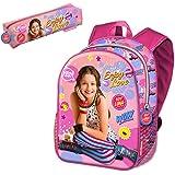 Backpack with Pencilcase Enjoy Soy Luna Disney 40cm School Bag Mochila Portatodo