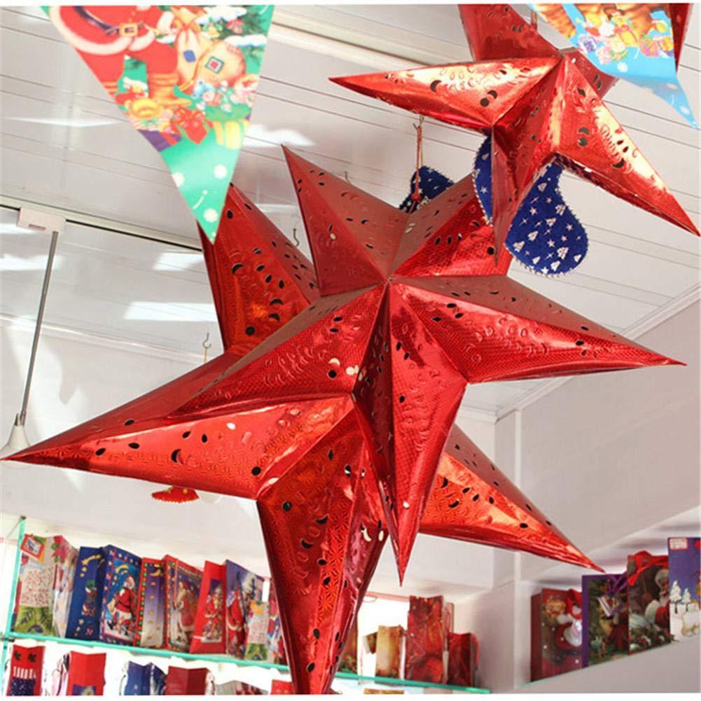 blendivt Decoración De Navidad Colorido Láser De Papel De ...