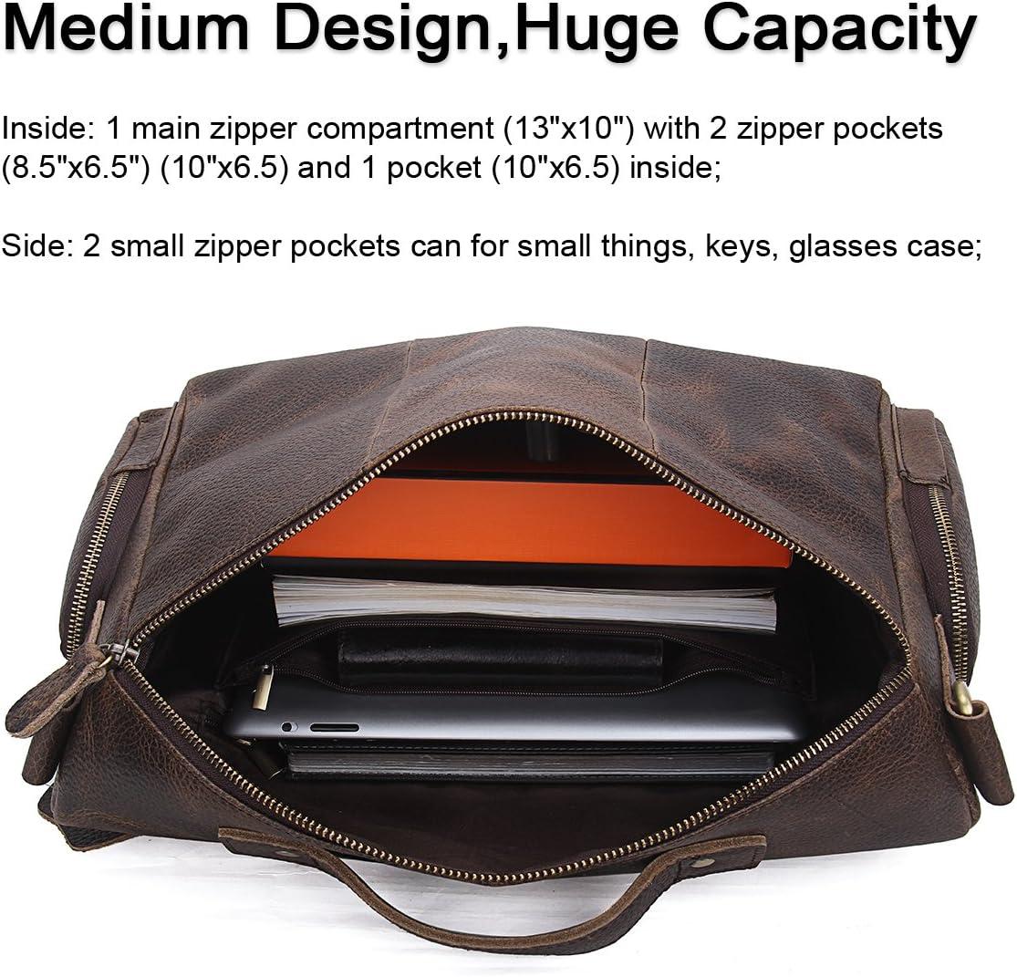 Contacts Sac /à main en cuir v/éritable m/édecin sac fourre-tout sac /à main ordinateur portable caf/é