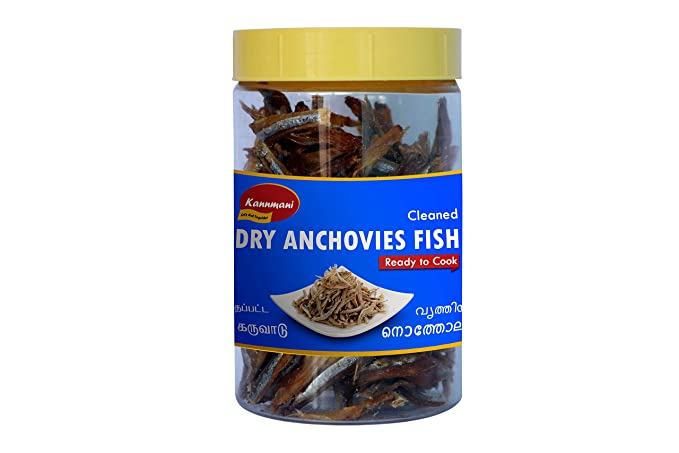 Kannmani Dry Anchovies Fish Cleaned Ready to Cook 100 g
