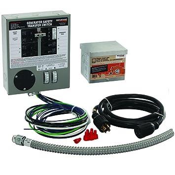 generac 6408 30 amp 6 10 circuit indoor manual transfer switch kit rh amazon ca Generator Transfer Switch Schematic Generac Transfer Switch Wiring PDF