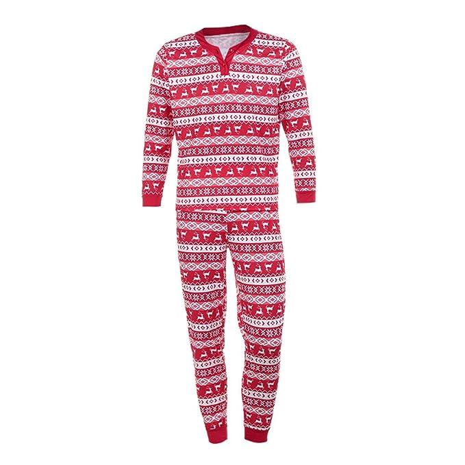 zycShang Pijamas de Navidad a Juego para Toda la Familia Camiseta Tops Blusa Pantalones Pijama Navidad