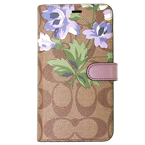 best cheap 97052 d8531 Amazon.com: Coach iPhone XR Folio in Signature Canvas with Lily ...