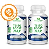Testosterone Booster Testo Boost Max, 2 MONTH SUPPLY, Formulated To Increases Natural Libido, Energy and Reduce Recovery Time Improving Your Athletic Performance, #1 Testo Booster, Made in USA