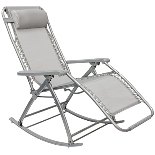 Rocking Garden Lounger By AMANKA Rocking Chair With Adjustable Footrest And  Reclining Back Folding Recliner For Part 55
