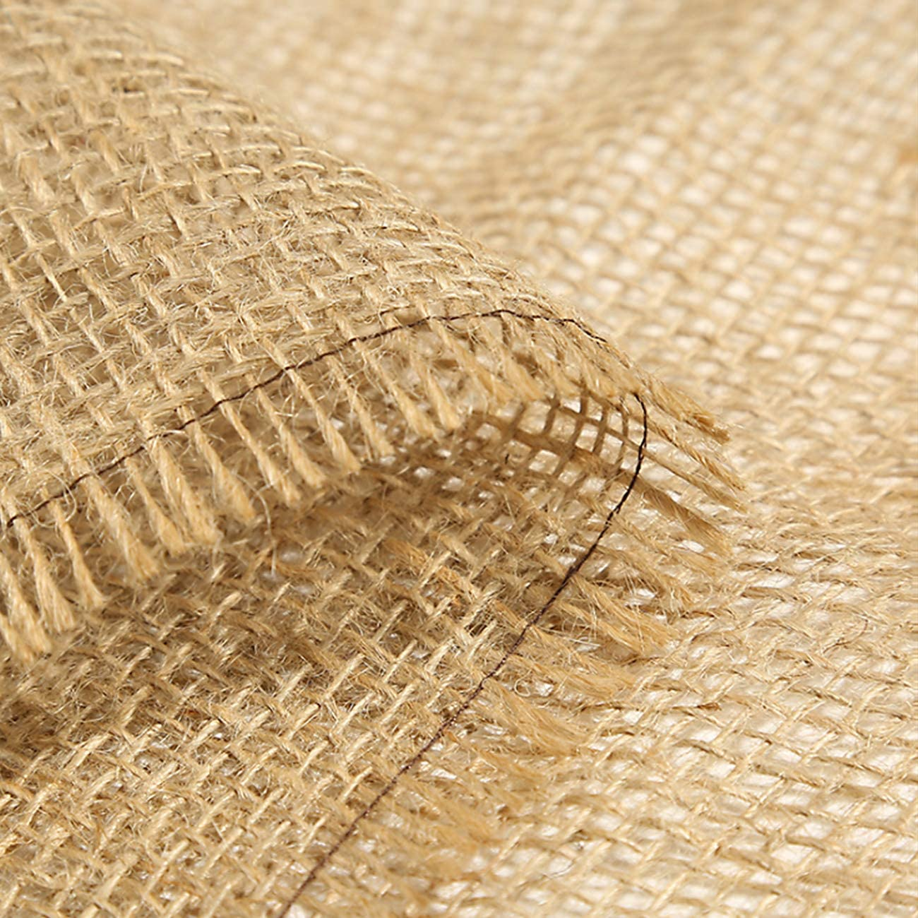 Natural Burlap Fabric, 62 Wide X 16FT, NO-FRAY Burlap Roll-Long Fabric with Finished Edges- Suitable for DIY, Weddings, Tree Wraps for Winter, Table Runners, Placemat, Crafts, and Animal Bites