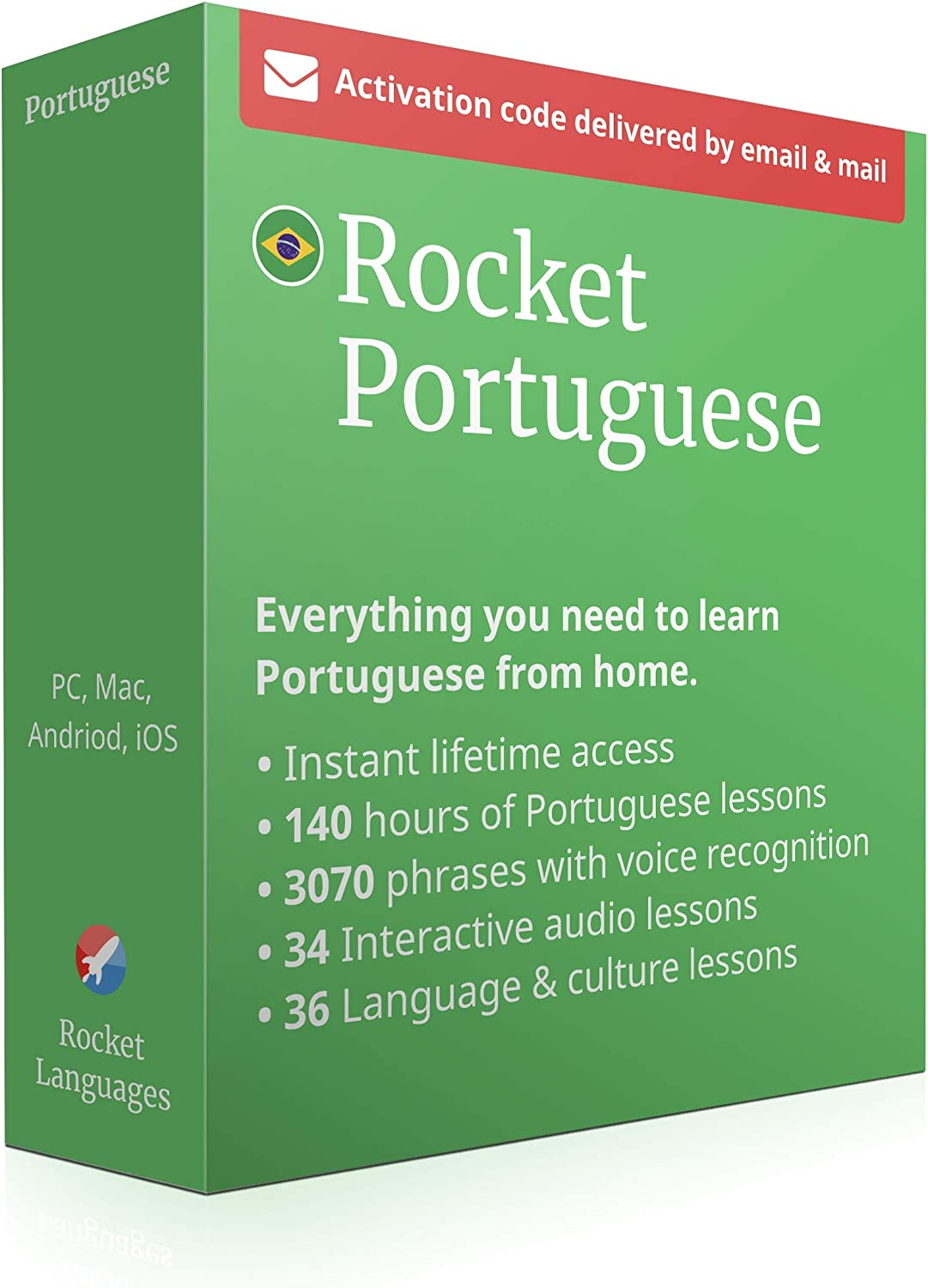 Android /& iOS PC Learn Portuguese with Rocket Portuguese Level 1: 120 Hours of Online Lessons to Speak and Understand Portuguese Language Fast Learning Course App for Mac