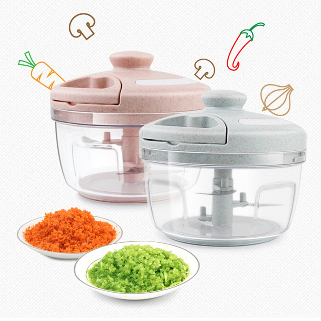 Momugs Multi-Functional Food Processor Manual Hand Food Chopper fast Salad Shredders Meat Grinder Kitchen Cooking tools for Baby kids