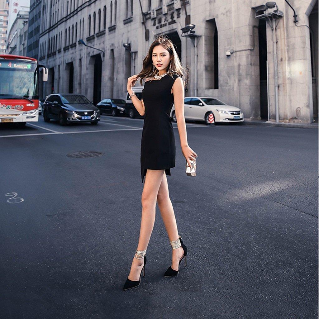 Li Ye Feng Shop Europa und hohlen die Vereinigten Staaten hohlen und schwarzen Partei wies High Heels Mode doppelte Nähte High Heels Fuß Ring High Heels (Farbe : schwarz-10.5cm, Größe : 41) schwarz-10.5cm 1e69fd
