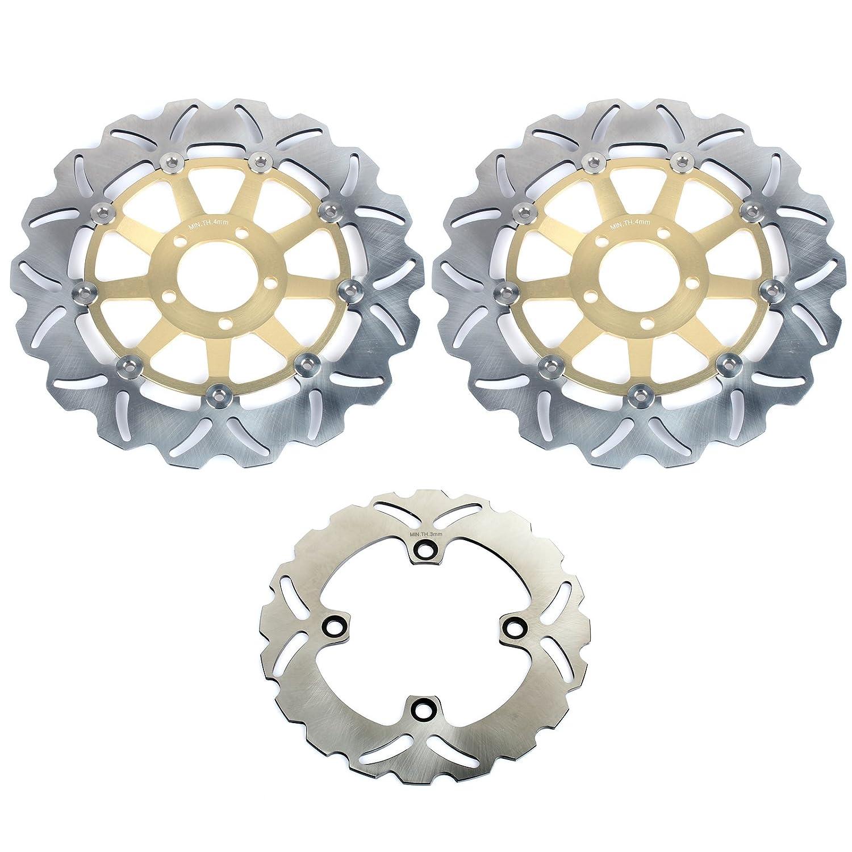 Amazon.com: TARAZON Full Set Brake Rotors Discs for Kawasaki ...