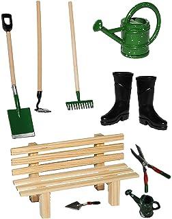 Set: Gartengeräte + Gummistiefel + Gießkanne