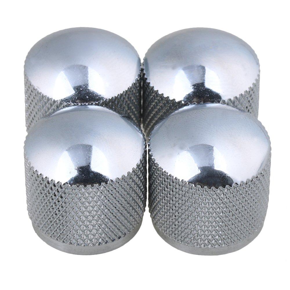BQLZR Chrome Boutons dôme en métal pour guitare électrique Micro Lot de 4 N01363