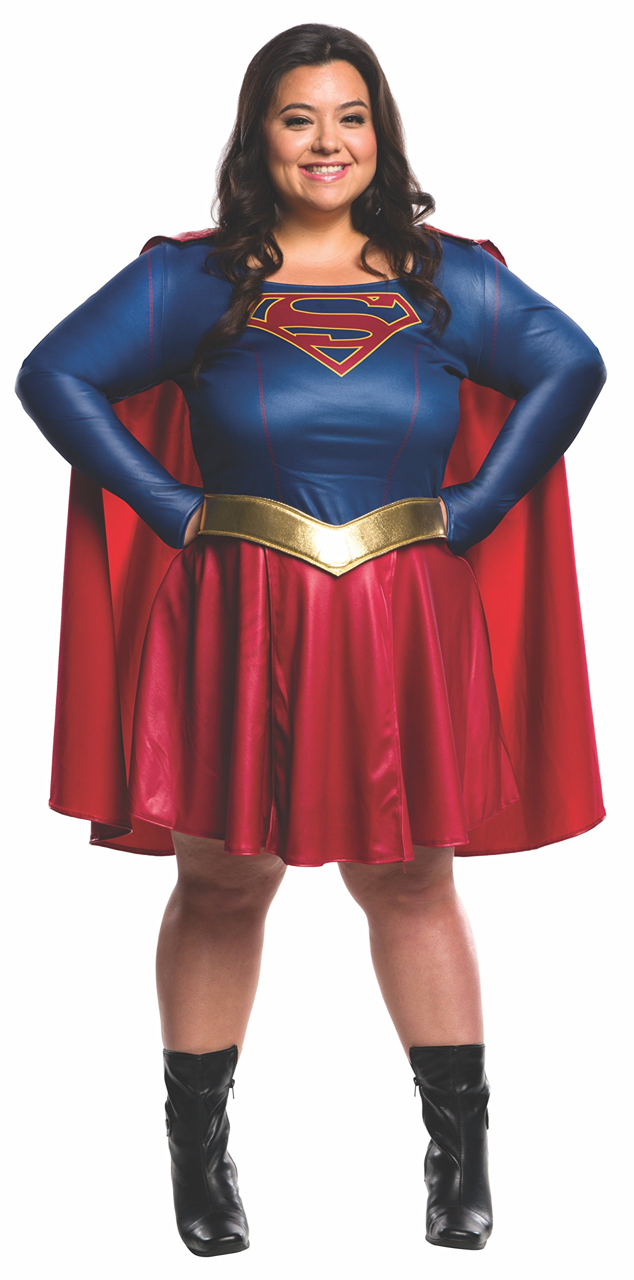 Rubie's Women's Supergirl TV Plus Size Costume, Multi