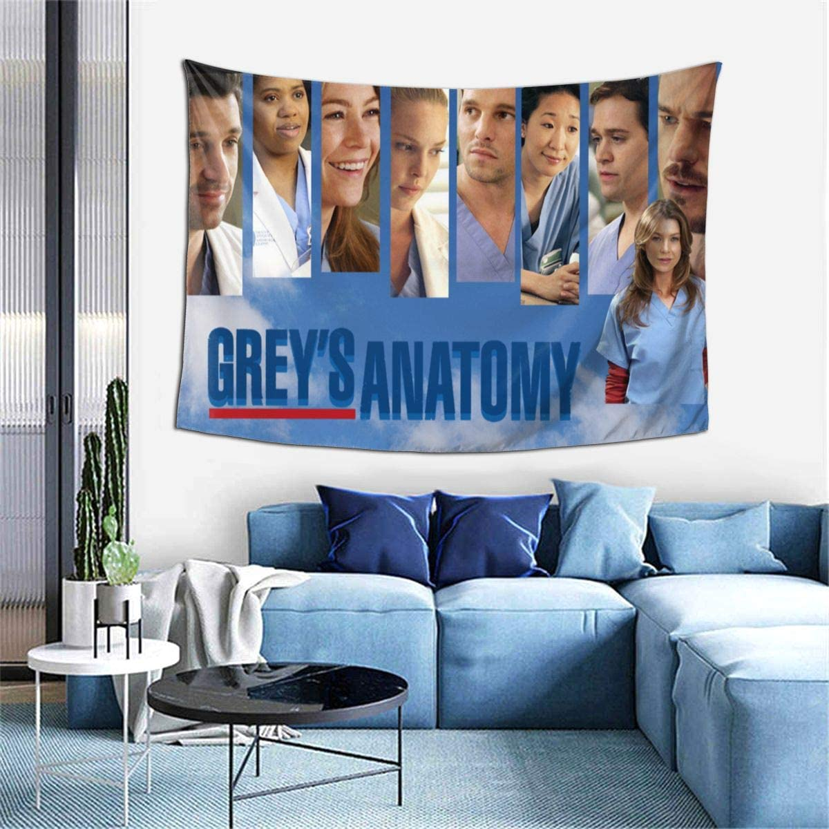 Bestrgi Tapestry Art Wall Hangings 3D Printing Wall Blanket Wall Art Grey's Anatomy Warm Throw Home Decor for Bedroom Living Room Dorm Home Decor Decoration 60x40 Inches