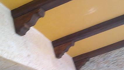 4 Mensulas Soporte Decorativa de Poliuretano para la viga Ancho 14, Color Nogal, Medidas Largo 29 Ancho 11 Alto 14. SE Puede MODIFICAR LA CANTIDAD.: Amazon.es: Bricolaje y herramientas
