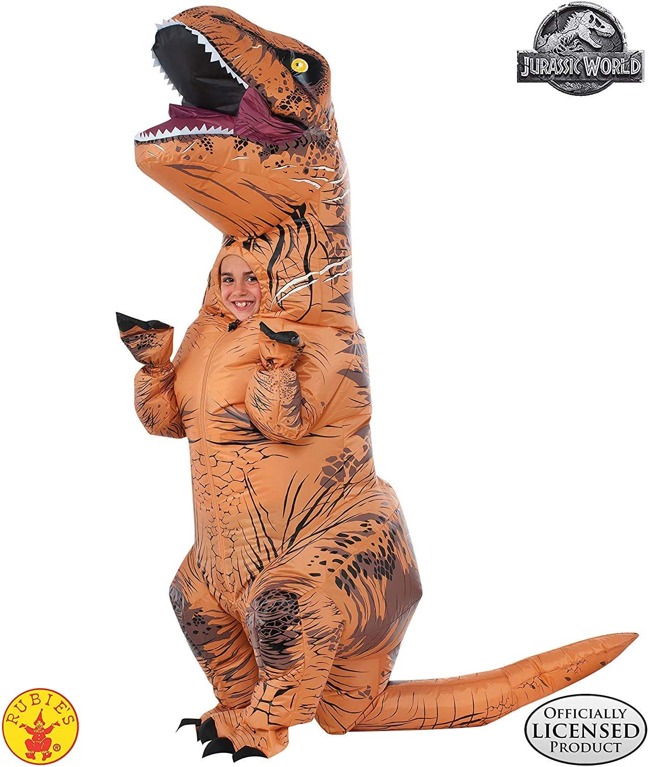 Rubies Jurassic World T-Rex Inflatable with Sound Child Costume ...