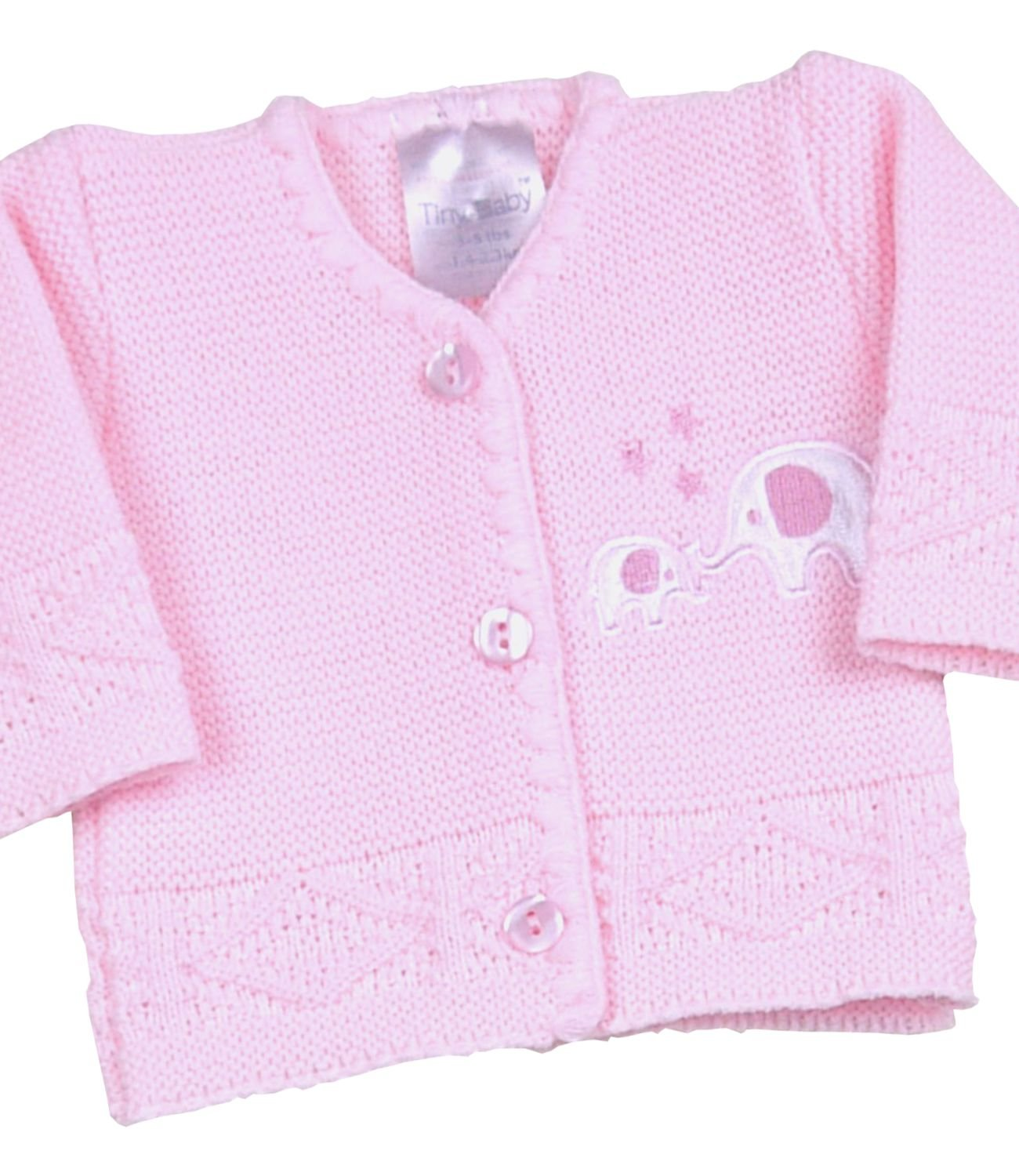 BabyPrem Premature Baby Cardigan Jacket Boy Girl Buttons Knitted Elephant 3-8lb SLD118