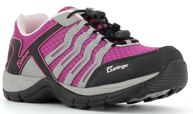 Chaussures basses Low Kastinger Mountain Low basses K - Imperméable - Pour enfants - Membrane K-Tex pour l'étanchéité et la respirabilité - Lacets rapides 29|Fuchsia/grey/pink 1949a4