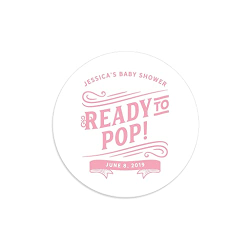 Ready To Pop Stickers Labels Baby Shower
