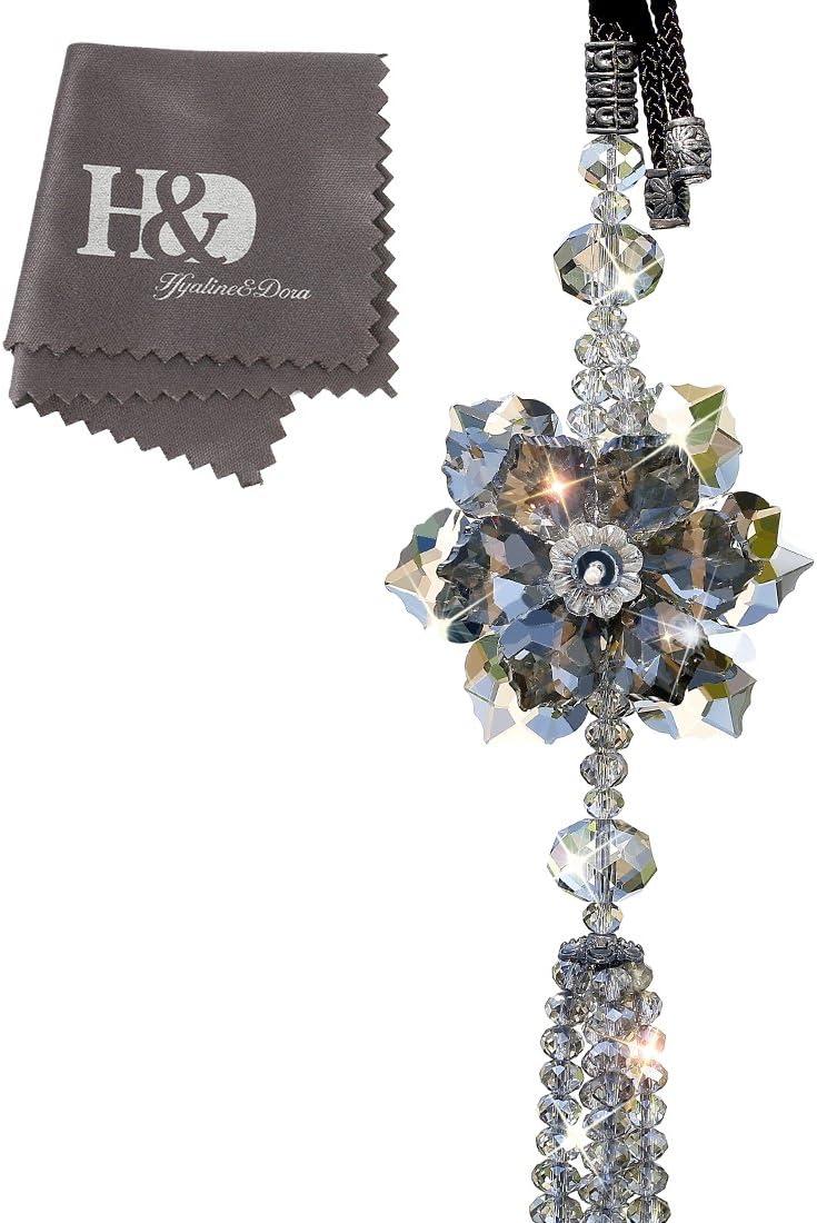 QF Crystals Car Pendants Lucky Hanging Rearview Mirror Pendant Car Decor Ornament (3)
