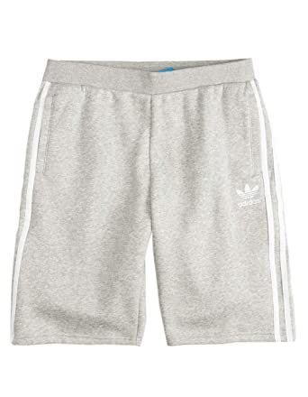 a1709a2fd3dde Amazon.com: adidas Trefoil Heather Gray Boys Sweat Shorts: Clothing