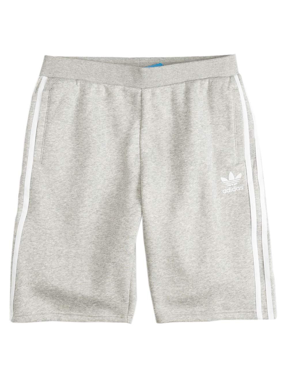 adidas Trefoil Heather Gray Boys Sweat Shorts, Heather Grey, Medium