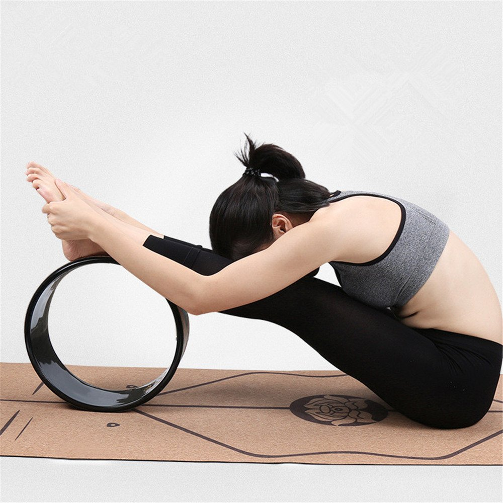 GAOCAN-D Yoga Prop Yoga Wheel Beginner's Back Stoop Assist Damour Wheel Yoga Pilates Circle for Home Gym. Improving Backbends and Yoga Poses - Excellent for by GAOCAN-D (Image #2)